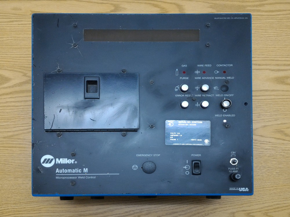 MILLER AUTOMATIC M MICROPROCESSOR WELDING CONTROLS FOR SALE! | 1-650 ...